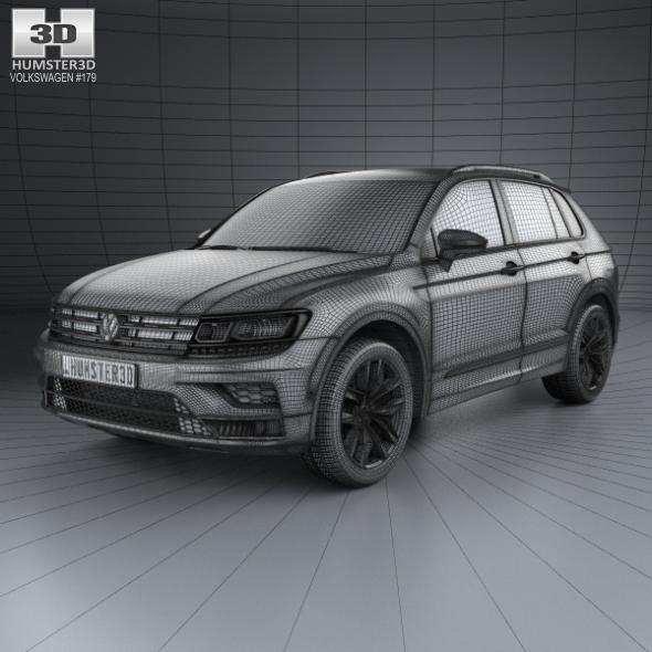 Volkswagen 2015 Tiguan: Volkswagen Tiguan Highline 2015 By Humster3d