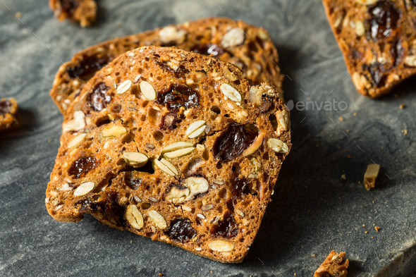Homemade Pecan and Cranberry Crackers - Stock Photo - Images
