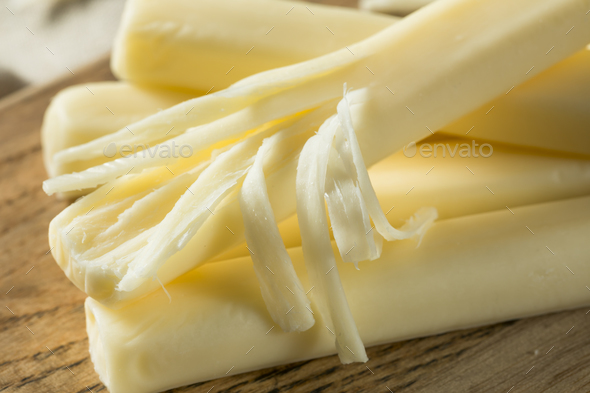 Healthy Organic String Cheese - Stock Photo - Images