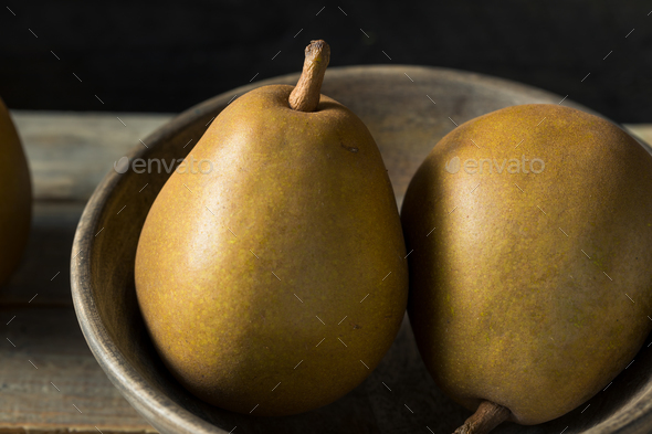 Raw Organic Brown Angelys Pears - Stock Photo - Images