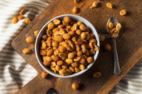 Homemade Honey Roasted Peanuts - Stock Photo - Images