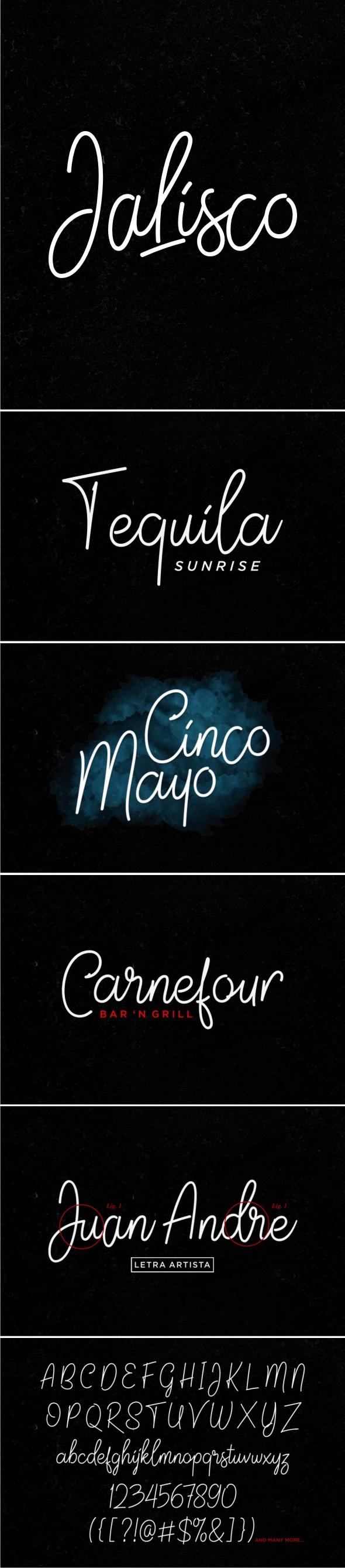 Jalisco Script - Hand-writing Script