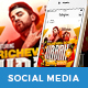 Rapper Social Media Templates - GraphicRiver Item for Sale
