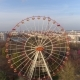 Aerial Drone Shot of Autumn Minsk City Amusement Park