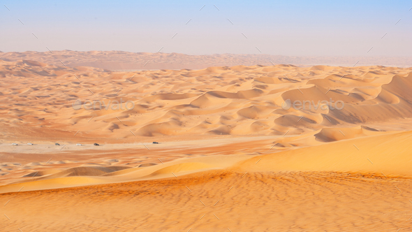 Travelling in the Empty Quarter - Stock Photo - Images