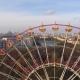 Aerial Drone Shot of Autumn Minsk City Amusement Park - VideoHive Item for Sale