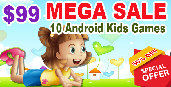Best 10 Kids Mega Sale - Ready For Publish - Android - CodeCanyon Item for Sale