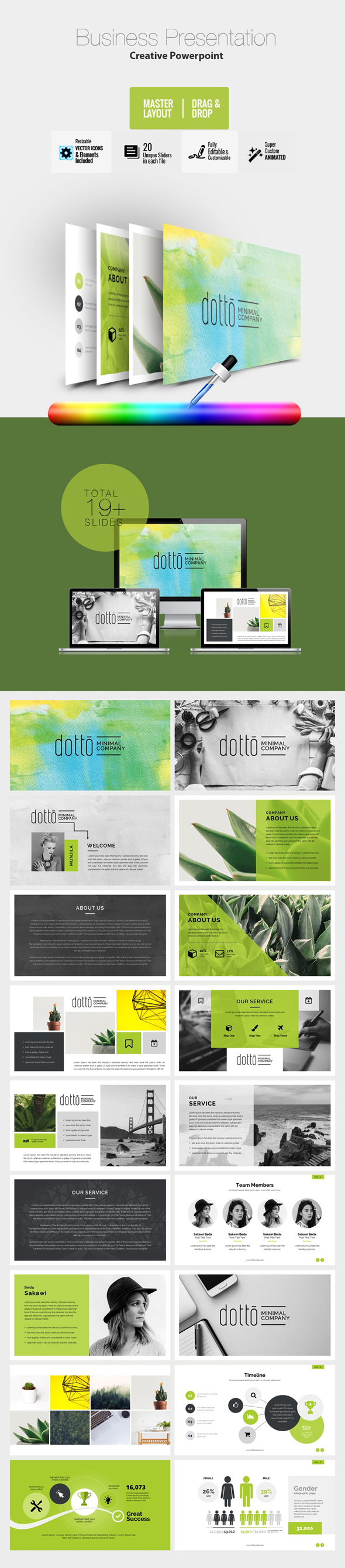Creative Business PowerPoint Template - Creative PowerPoint Templates
