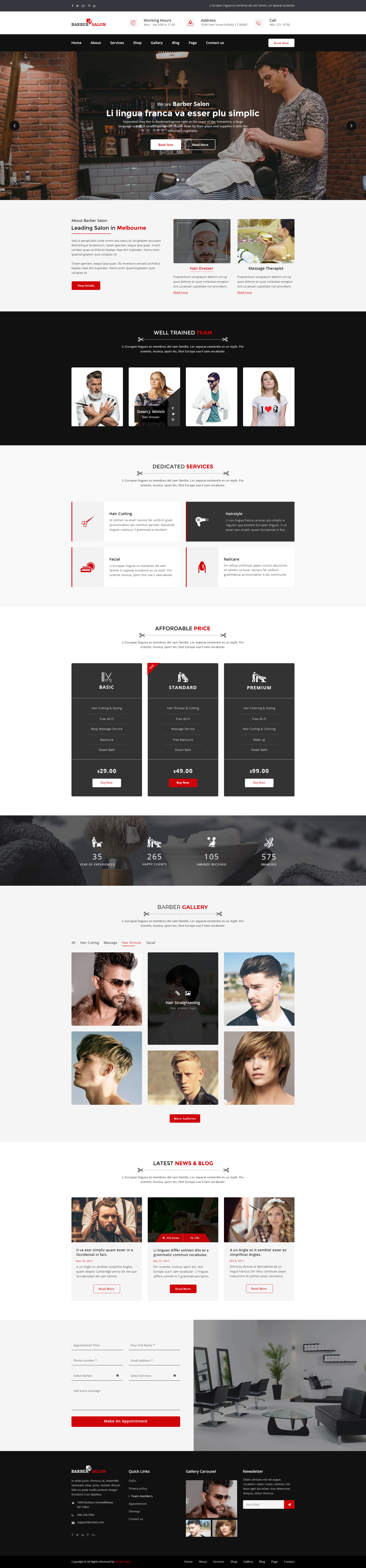 Barber Salon | Barber Shop Hair Spa and Beauty Salon PSD Template by ...