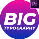 Big Typography Pack - VideoHive Item for Sale