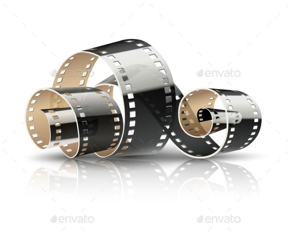 Film Tape Twisted Reel for Cinema Movies - Man-made Objects Objects
