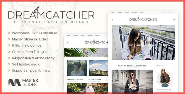 Dreamcatcher - Personal WordPress Blog Theme - Personal Blog / Magazine