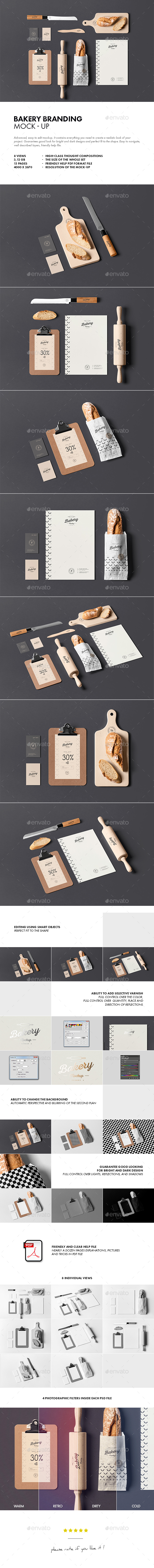 Bakery Branding Mock-up - Stationery Print
