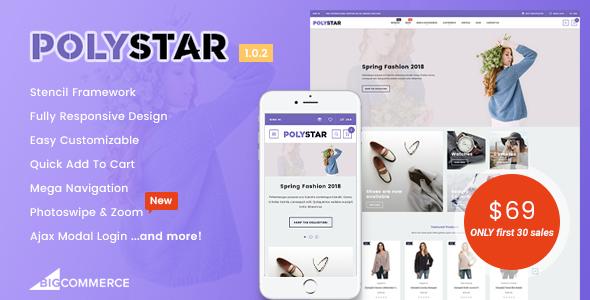 Image of Polystar - Responsive BigCommerce Theme