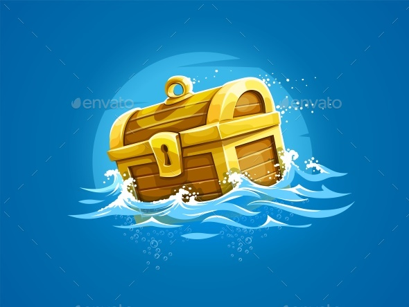 Piratic Trunk with Treasures and Gold - Miscellaneous Vectors