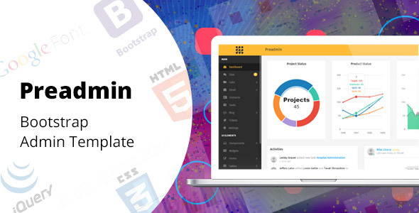 Image of Preadmin - Bootstrap Admin Template