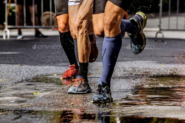 group runner men - Stock Photo - Images