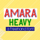 Amara Heavy Typeface - GraphicRiver Item for Sale