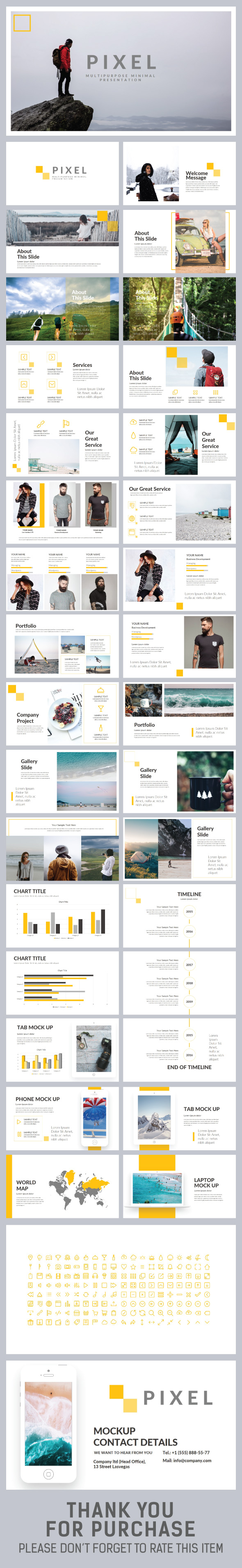 Pixel Keynote Template - Creative Keynote Templates