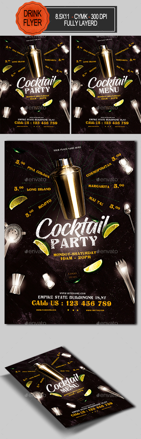 Cocktail Party Flyer - Restaurant Flyers