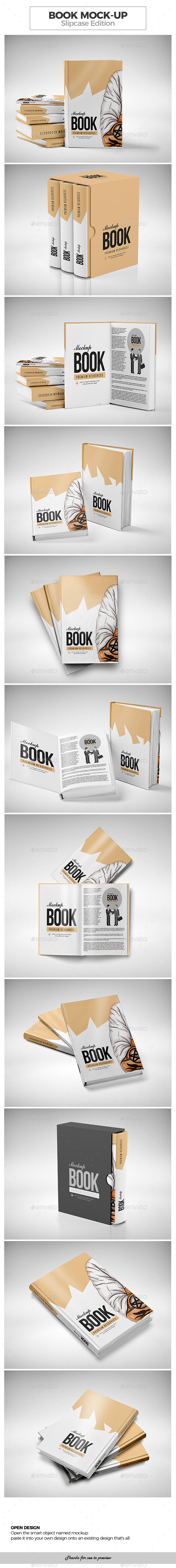 Book Mock-up / Slipcase Edition - Product Mock-Ups Graphics