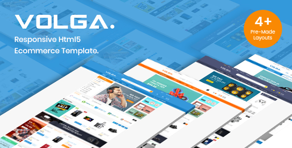 Volga - MegaShop Bootstrap HTML Template - Shopping Retail