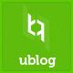 UBlog - Responsive WordPress Theme for Bloggers - ThemeForest Item for Sale