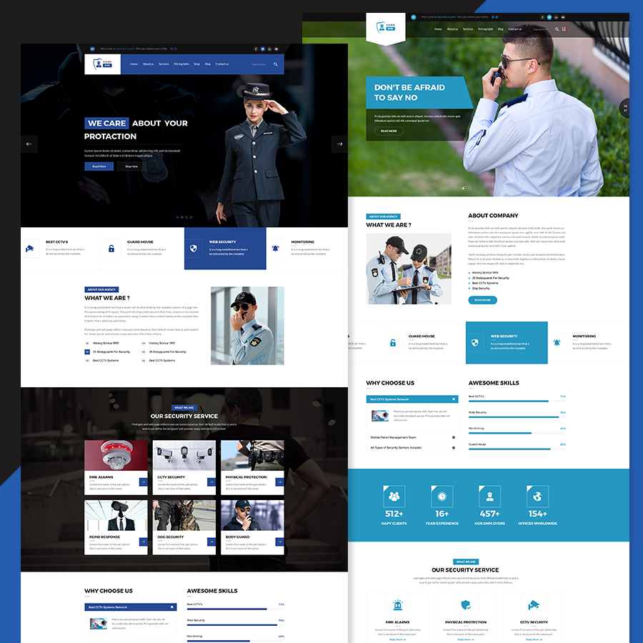 Hawkeye - Security Service PSD Template - 1
