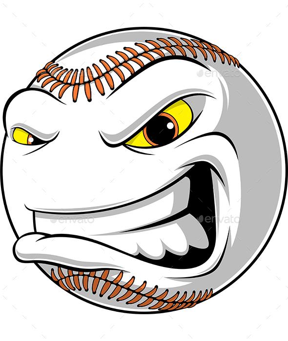 Angry Ball for Baseball - Sports/Activity Conceptual