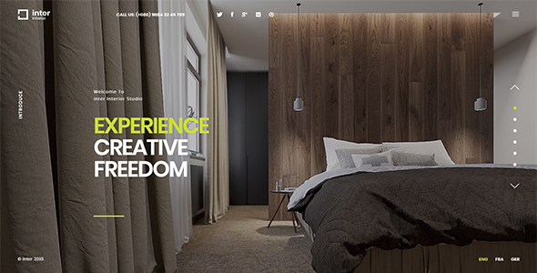 Inter - Interior and Architecture Template Free Download | Nulled