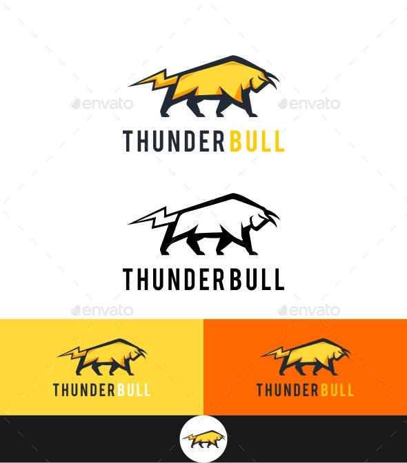 Thunder Bull - Animals Logo Templates