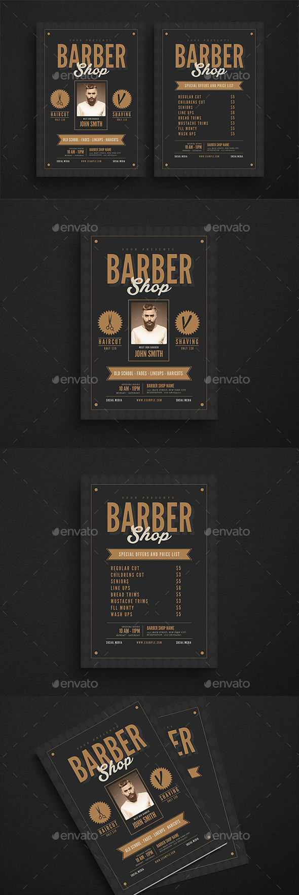 HIpster Barbershop Flyer - Flyers Print Templates