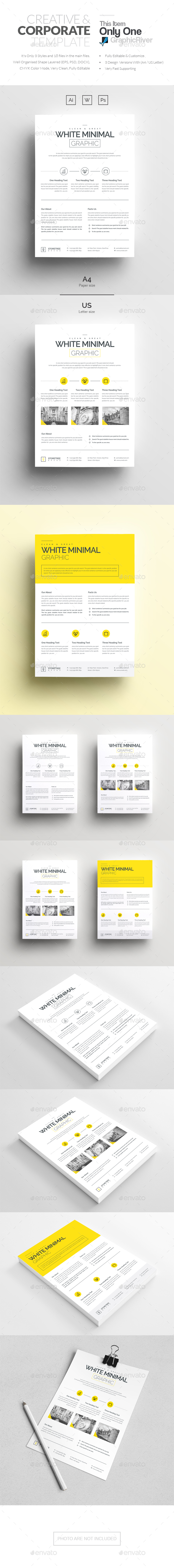 Minimal Corporate Flyer Template - Corporate Flyers