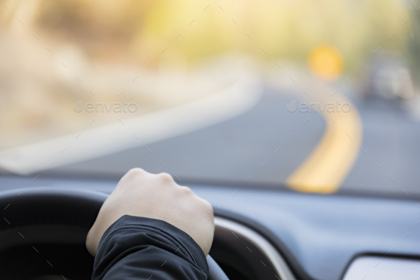 Driving a car - Stock Photo - Images