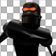 Black Funny Robot Dance  - VideoHive Item for Sale