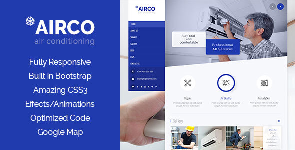 Airco - Air Condition & Heating HTML Template - Business Corporate