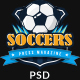 SoccersPress - Sporting & News Magazine PSD Template