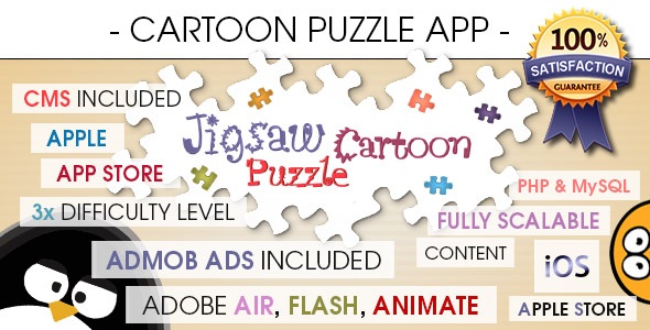 Jigsaw Cartoon Puzzle With CMS & AdMob - iOS - CodeCanyon Item for Sale