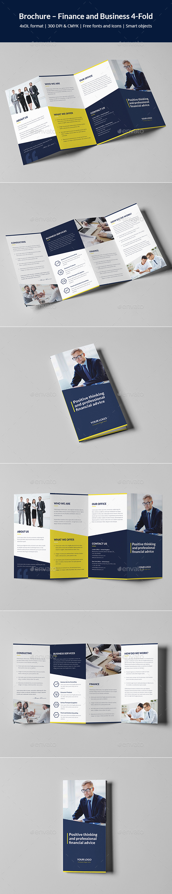 Brochure – Finance and Business 4-Fold - Corporate Brochures