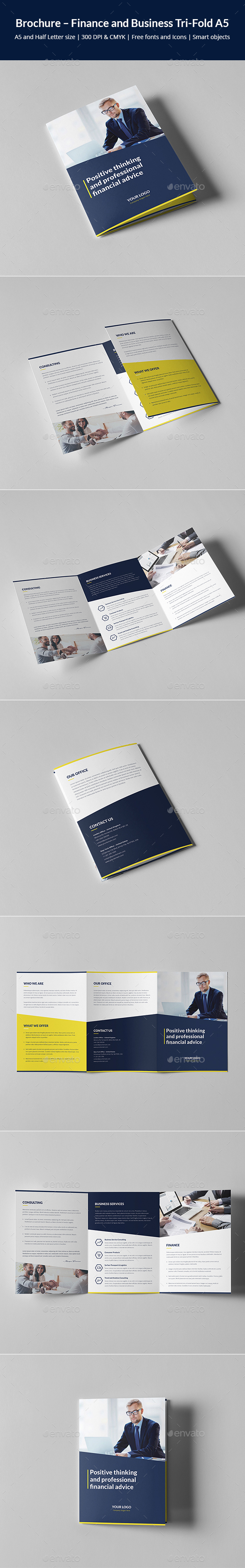 Brochure – Finance and Business Tri-Fold A5 - Corporate Brochures