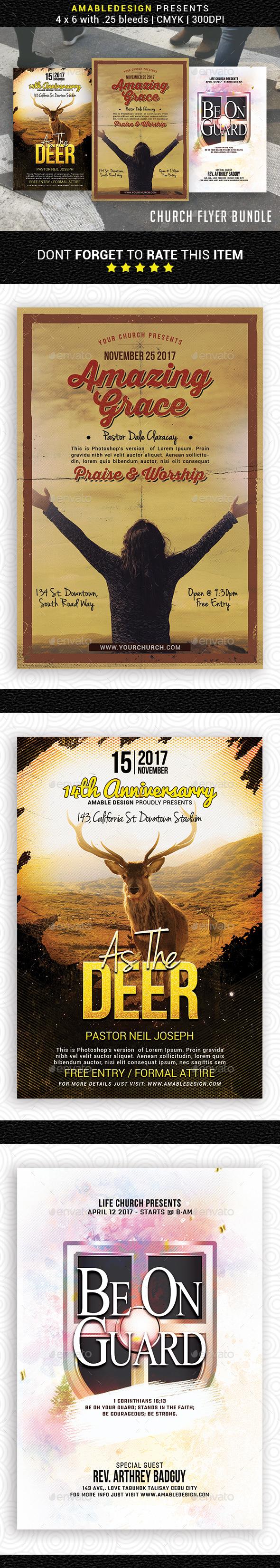 3 in 1 Worship Church Flyer/Poster Bundle - Church Flyers