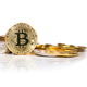 Conceptual cryptocurrency bitcoin on white background - PhotoDune Item for Sale