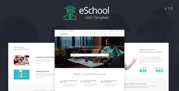 Image of eSchool - Education & LMS Joomla Template