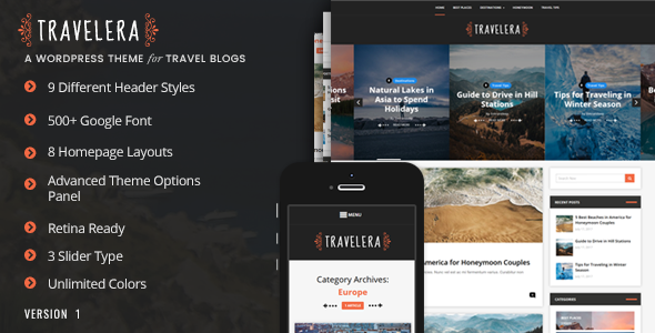 Travelera - Travel Blog Theme - Blog / Magazine WordPress
