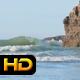 Rocky Coast and Waves at Beach - VideoHive Item for Sale
