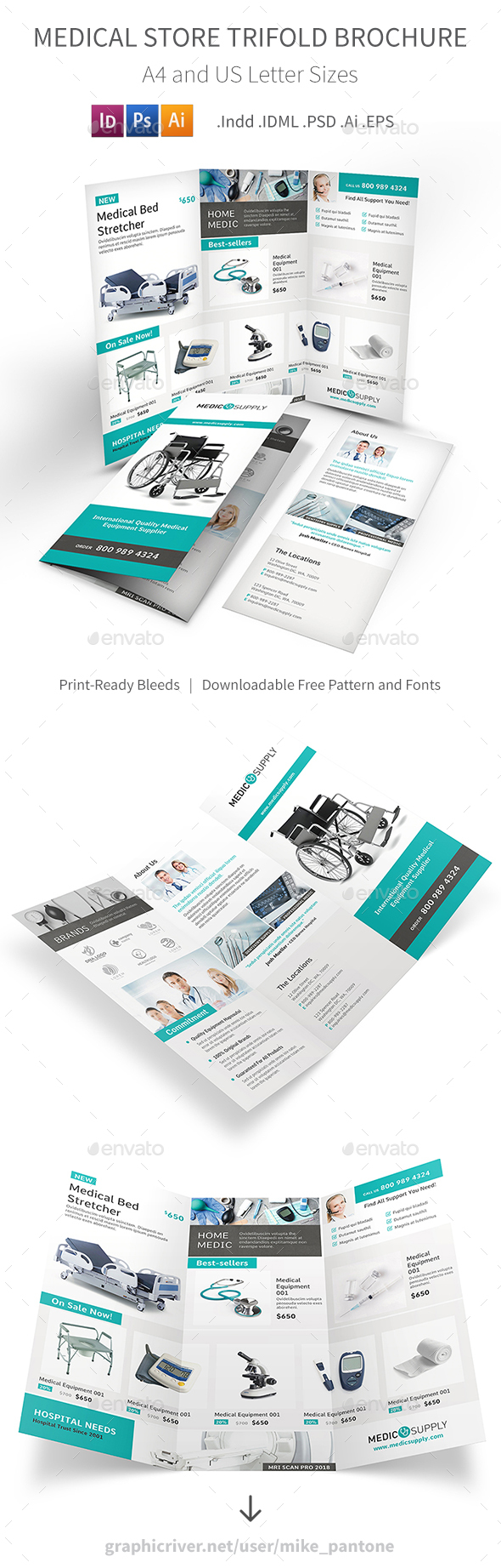 Medical Store Trifold Brochure - Informational Brochures