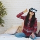 Young Woman Wearing Virtual Reality Glasses - VideoHive Item for Sale