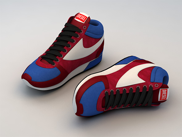 Diesel Sneakers - Shoes - 3DOcean Item for Sale