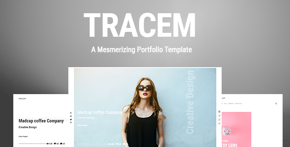 Tracem - A Mesmerizing Portfolio Template Free Download   Nulled
