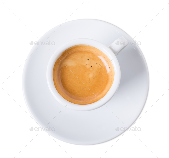 Cup of aromatic italian espresso. - Stock Photo - Images
